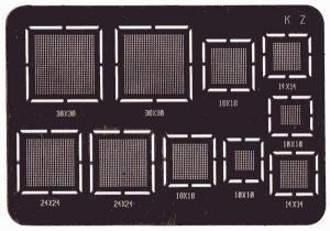 Šablona pro překuličkovávání BGA obvodů typ K