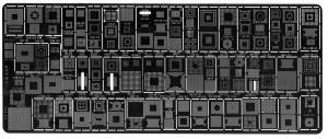 Šablona pro překuličkovávání BGA obvodů typ R