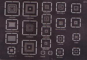 BGA šablona pro herní konzole PSP a XBOX - X6