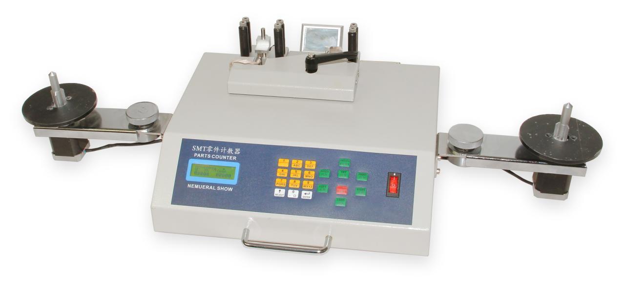 Počítačka součástek YS-802 s připojením barcode čtečky a tiskárny