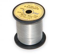 Olovnatá trubičková pájka S-Sn63Pb37E průměr 0,8 mm