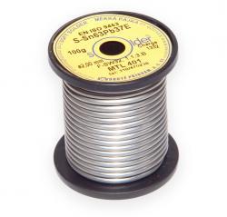 Olovnatá trubičková pájka S-Sn63Pb37E průměr 2 mm