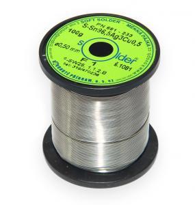 Bezolovnatá trubičková pájka S-Sn96,5Ag3Cu0,5 průměr 0,5 mm