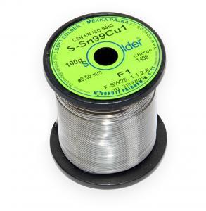 Bezolovnatá trubičková pájka S-Sn99Cu1 průměr 0,5 mm