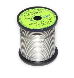 Bezolovnatá trubičková pájka S-Sn99Cu1 průměr 1,5 mm