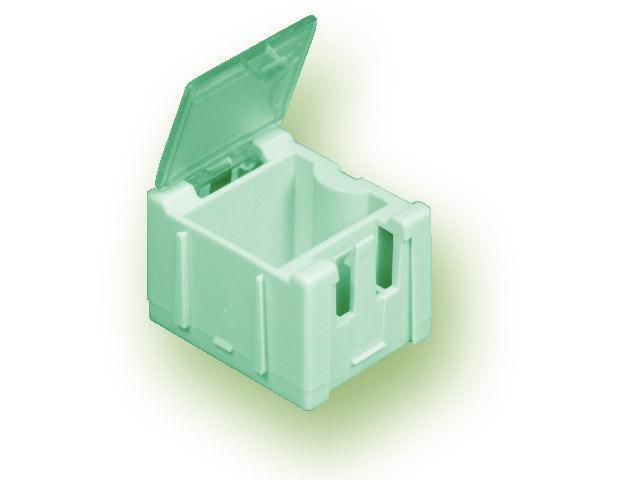 Miniaturní plastové šuplíky na SMD součástky B1 - zelené