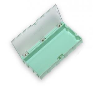 Miniaturní plastové šuplíky na SMD součástky B4 - zelené