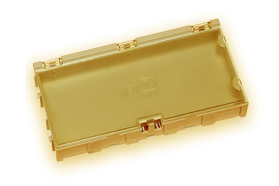 Miniaturní plastové šuplíky na SMD součástky B4 - žluté
