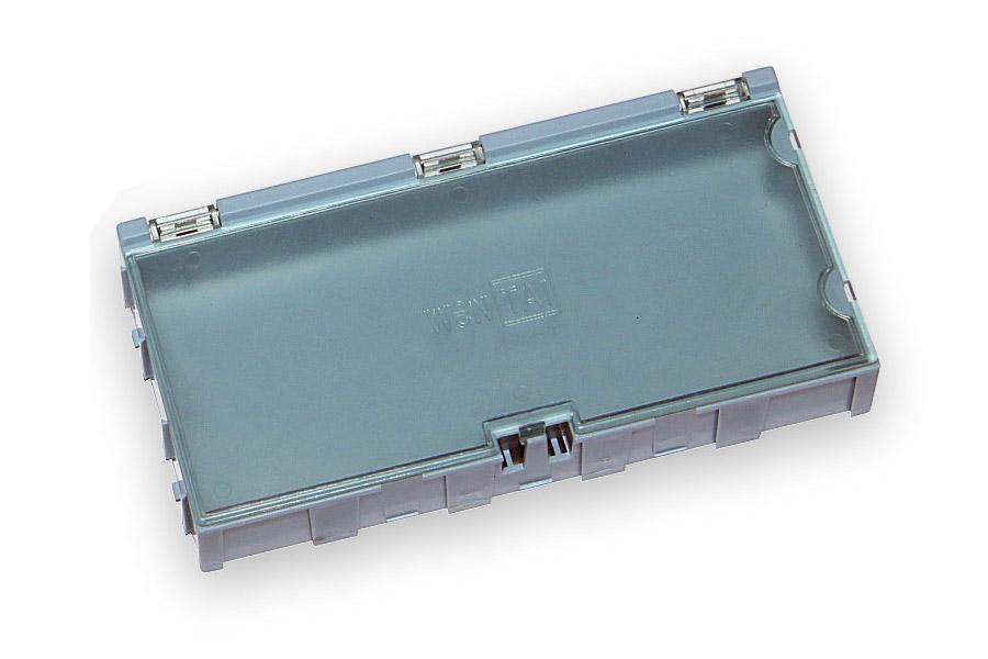 Miniaturní plastové šuplíky na SMD součástky B4 - modré