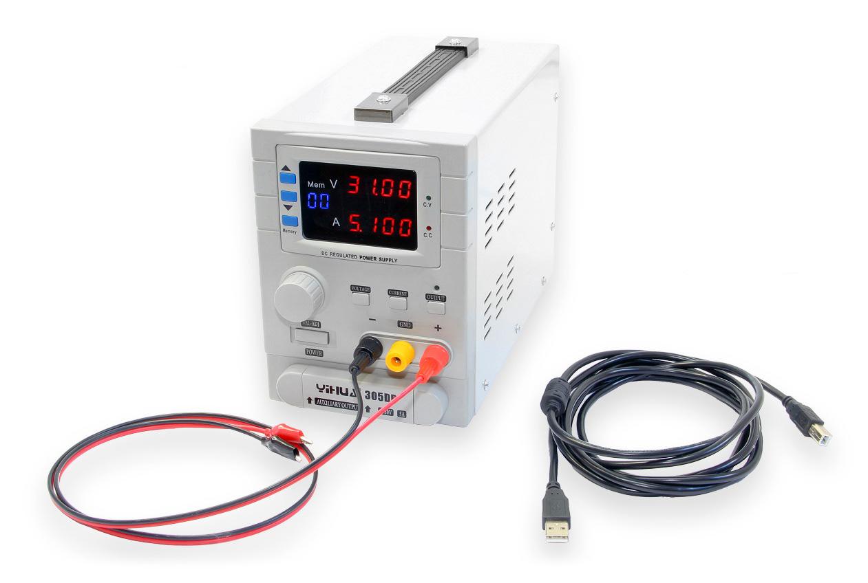 Laboratorní zdroj Yihua 305DB s připojením k PC