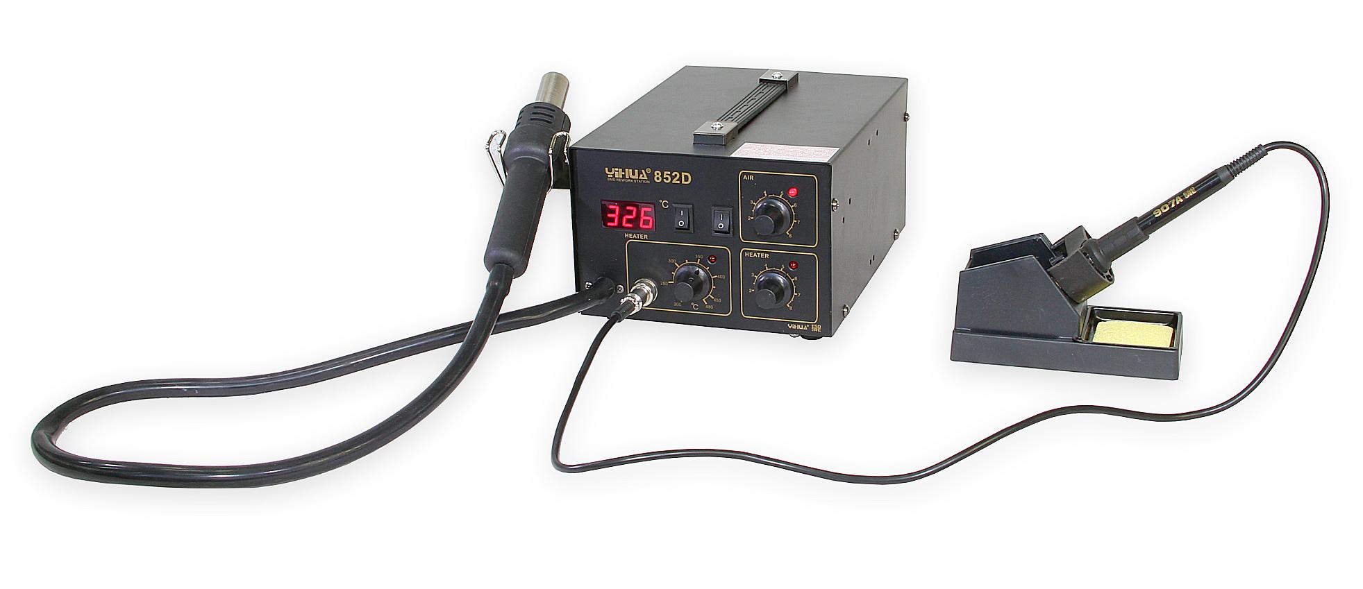 Kombinovaná pájecí stanice Yihua 852D s membránovým kompresorem