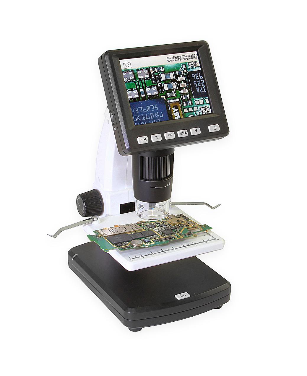 Digitální mikroskop s LCD, rozlišením 12Mpix, SD kartou, USB a TV výstupem