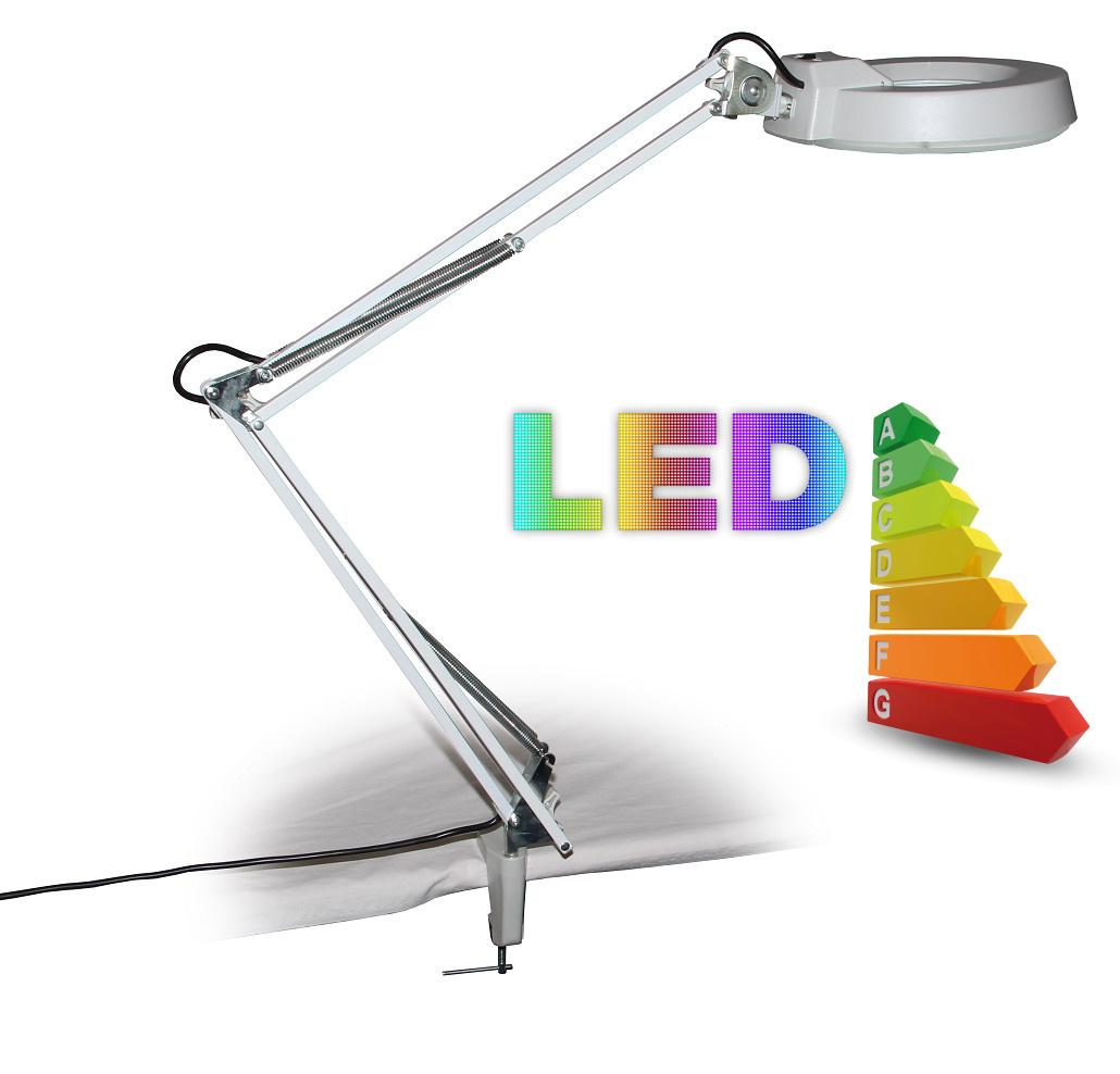 Stolní lupa s LED osvětlením T86-A zvětšení 8 dioptrií