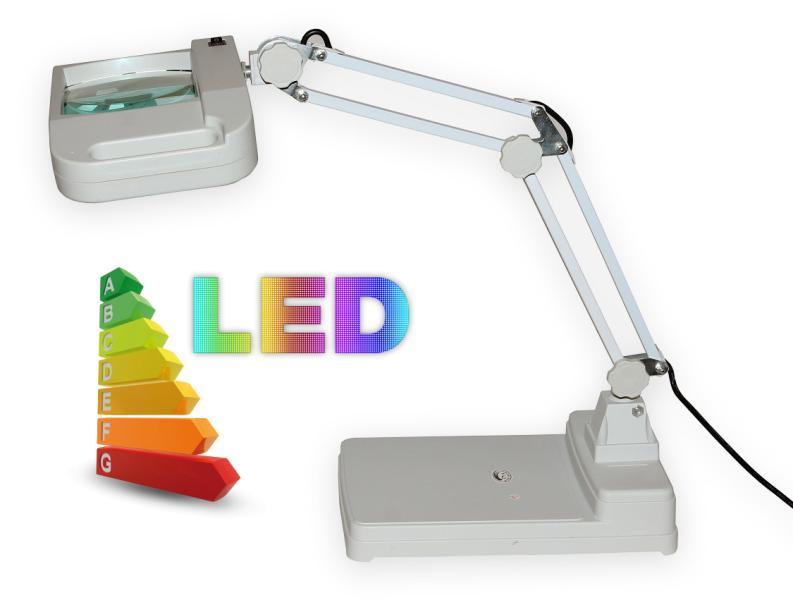 LED lampa se zvětšovacím sklem T86-I zvětšení 8 dioptrií