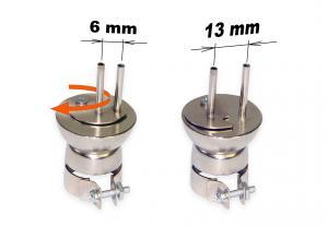 Horkovzdušná tryska dvojitá nastavitelná 2x3 mm, rozteč 6-13 mm typ 1325