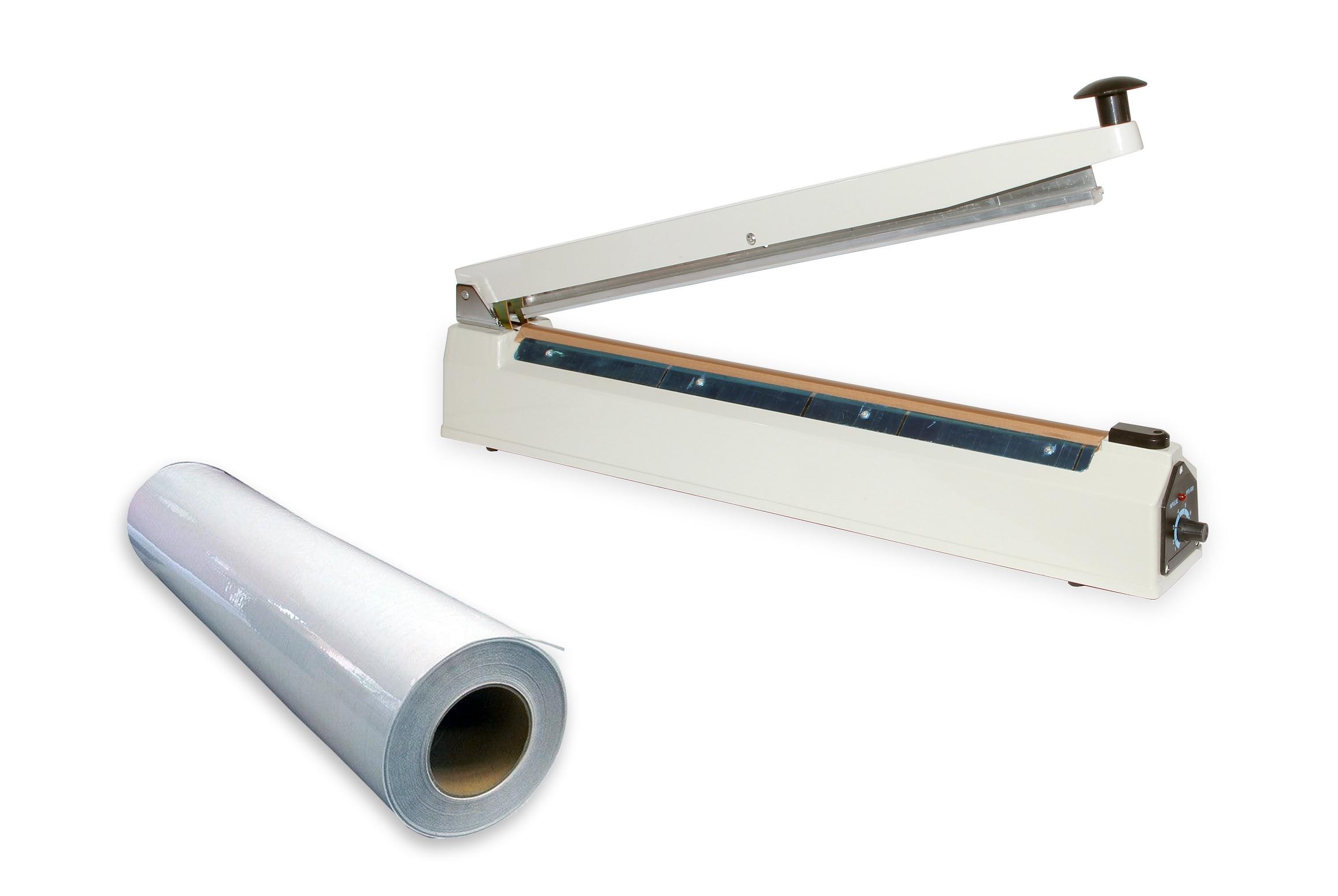 Impulsní svářečka fólií, sáčků a obalů PFS-500 s šířkou svářecí lišty 500 mm