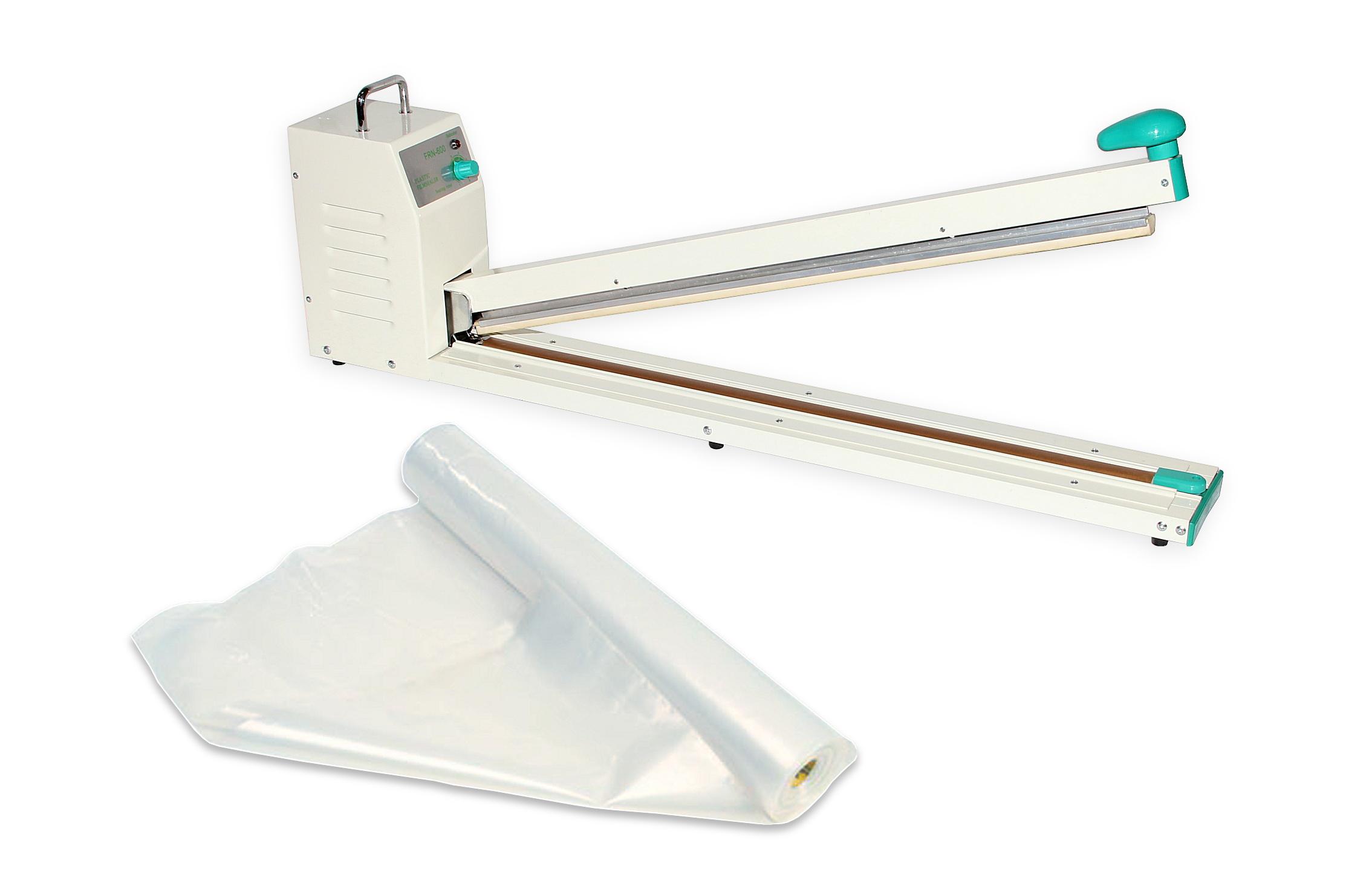 Páková svářečka fólií pro zatavování plastů FRN-600 se svářecí lištou o šířce 600 mm