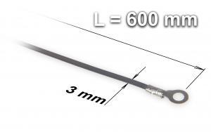 Náhradní tavící drát ke svářečce plastových fólií a sáčků typu FRN-600, šířka 3 mm