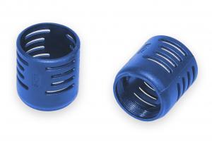 Ochranný plastový překryt horkovzdušné trubice - modrý