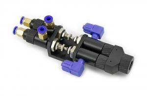Dvousložkový pneumaticky řízený jehlový směšovací ventil 065AB