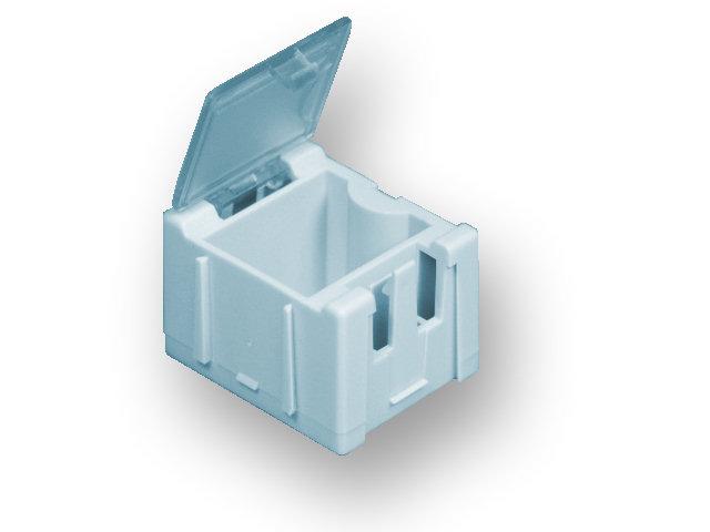 Miniaturní plastové šuplíky na SMD součástky B1 - modré