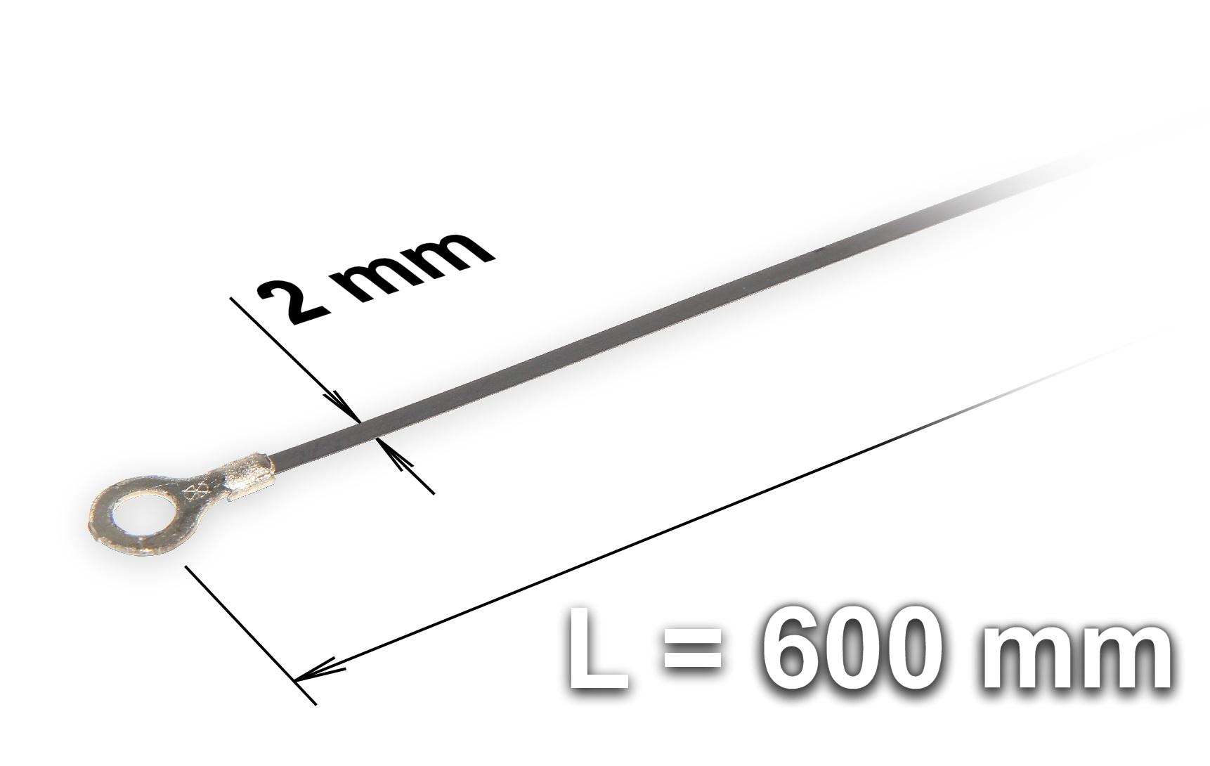 Náhradní tavící drát ke svářečce plastových fólií a sáčků typu FRN-600, šířka 2 mm