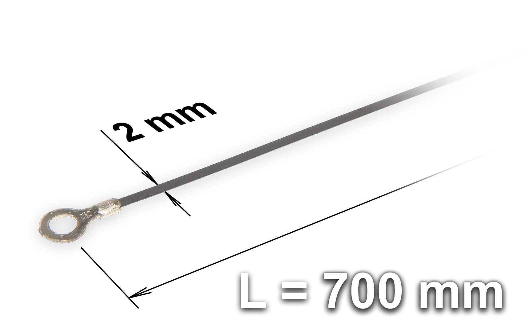 Náhradní tavící drát ke svářečce plastových fólií a sáčků typu FRN-700, šířka 2 mm