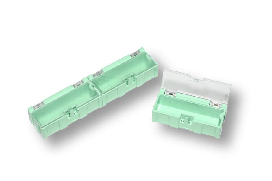 Miniaturní plastové šuplíky na SMD součástky B2 - zelené