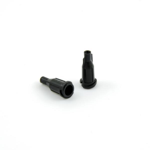 Uzávěr kartuší a stříkaček Luer Lock a Luer slip černý