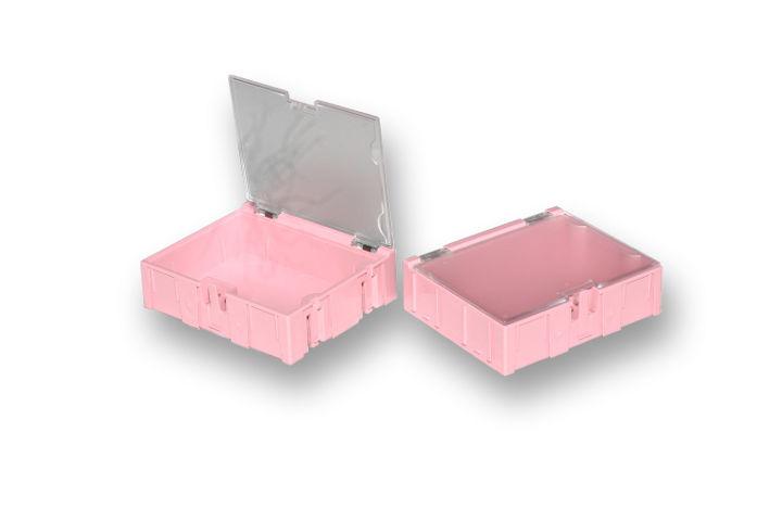 Miniaturní plastové šuplíky na SMD součástky B3 - růžové