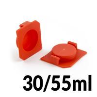 Horní uzávěr kartuší 30ml a 55ml pro průměr 22.5mm