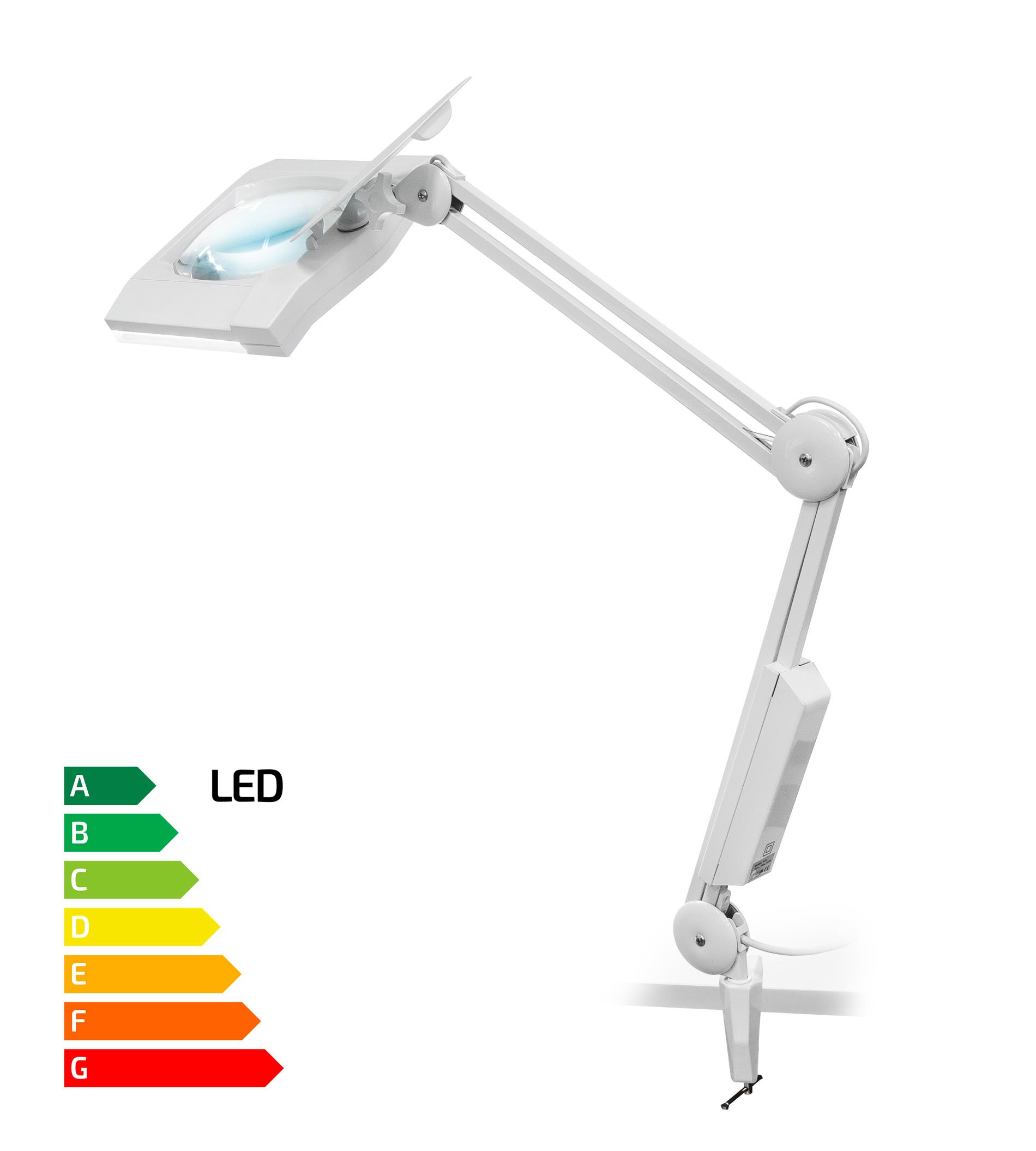 Stolní lupa s LED osvětlením typ Giga zvětšení 8D