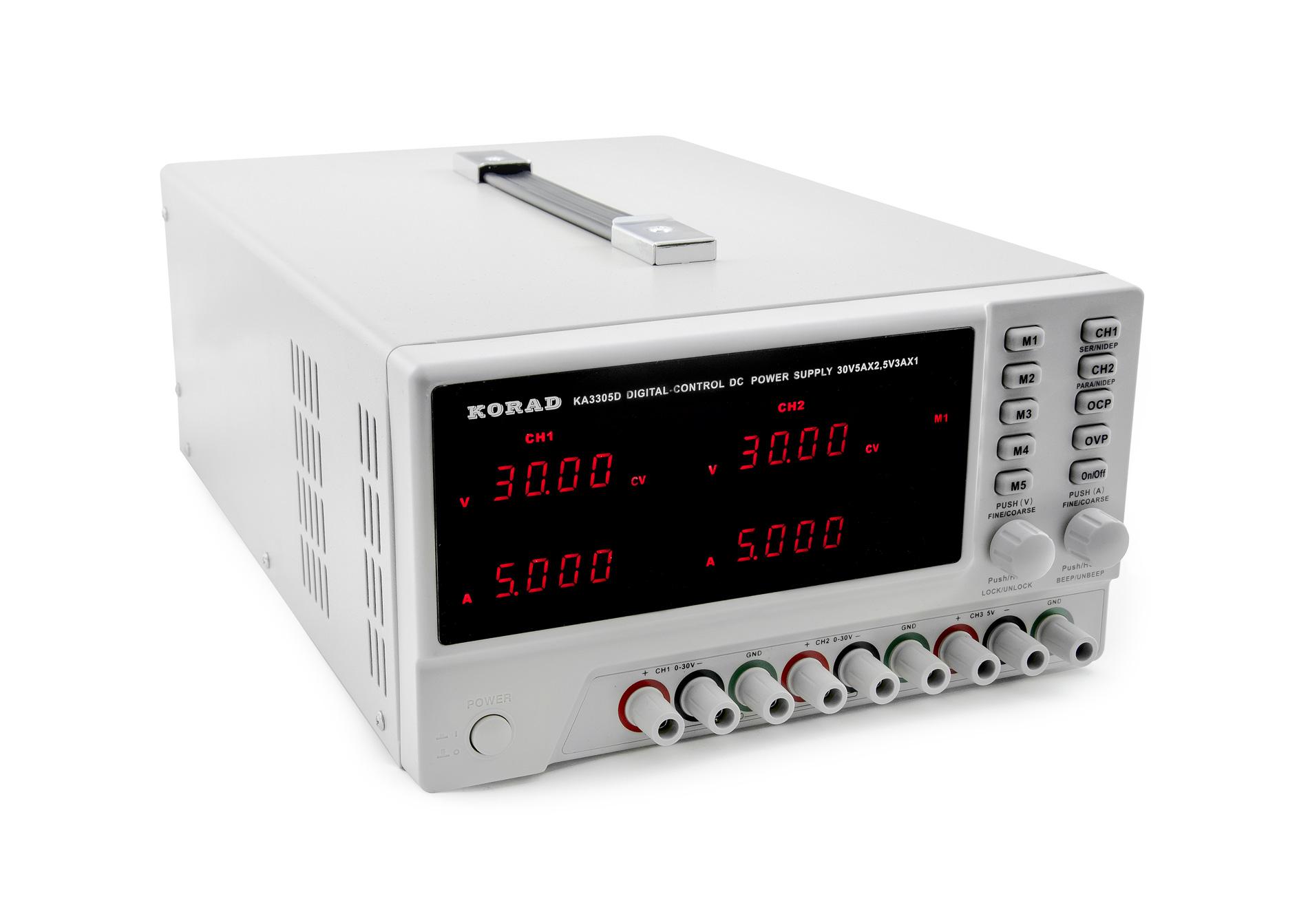 Digitální laboratorní zdroj Korad KA3305D tříkanálový 2x 30V 5A +5V 3A