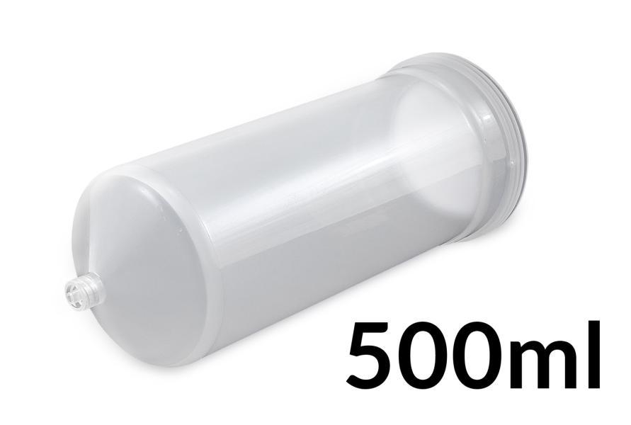 Kartuše velkoobjemová 500ml bílá polotransparentní