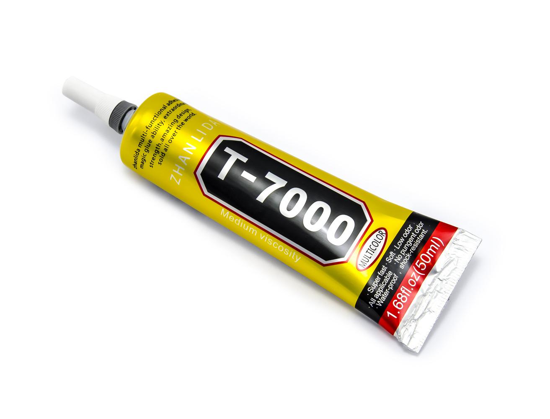 Silikonové lepidlo T-7000 pro opravy elektroniky, černé (50ml)