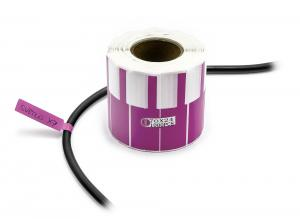 Samolepící štítky k popisování kabelů a drátů 1000ks fialové