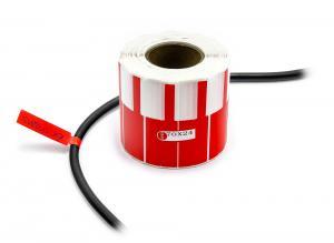 Nálepky k označování a popisu vodičů a kabelů 500ks červené
