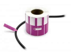 Nálepky k označování a popisu vodičů a kabelů 500ks fialové