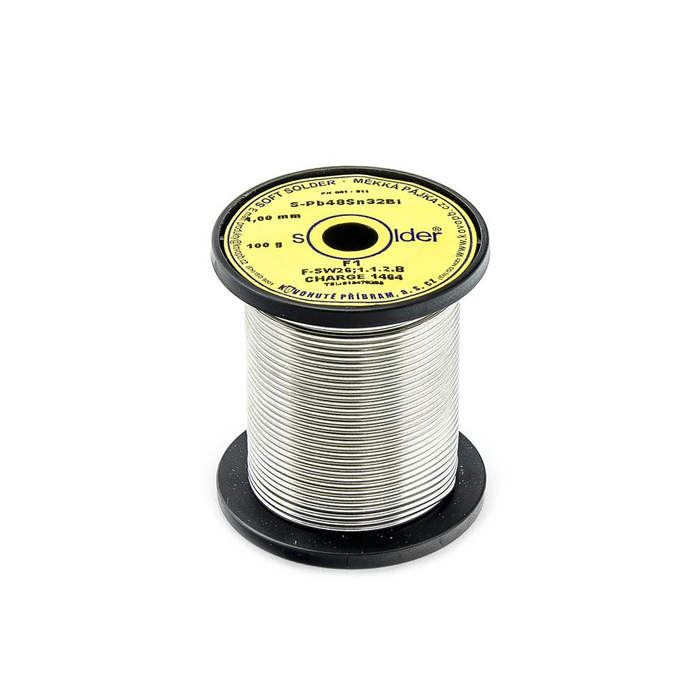 Cín S-PB48Sn32Bi F1 trubičkový nízkotavitelný 1mm 100g