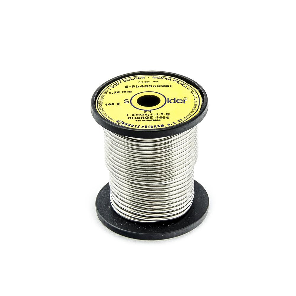 Cín S-PB48Sn32Bi F1 trubičkový nízkotavitelný 1,5mm 100g
