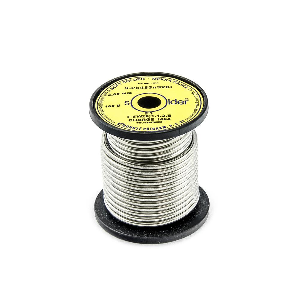 Cín S-PB48Sn32Bi F1 trubičkový nízkotavitelný 2mm 100g