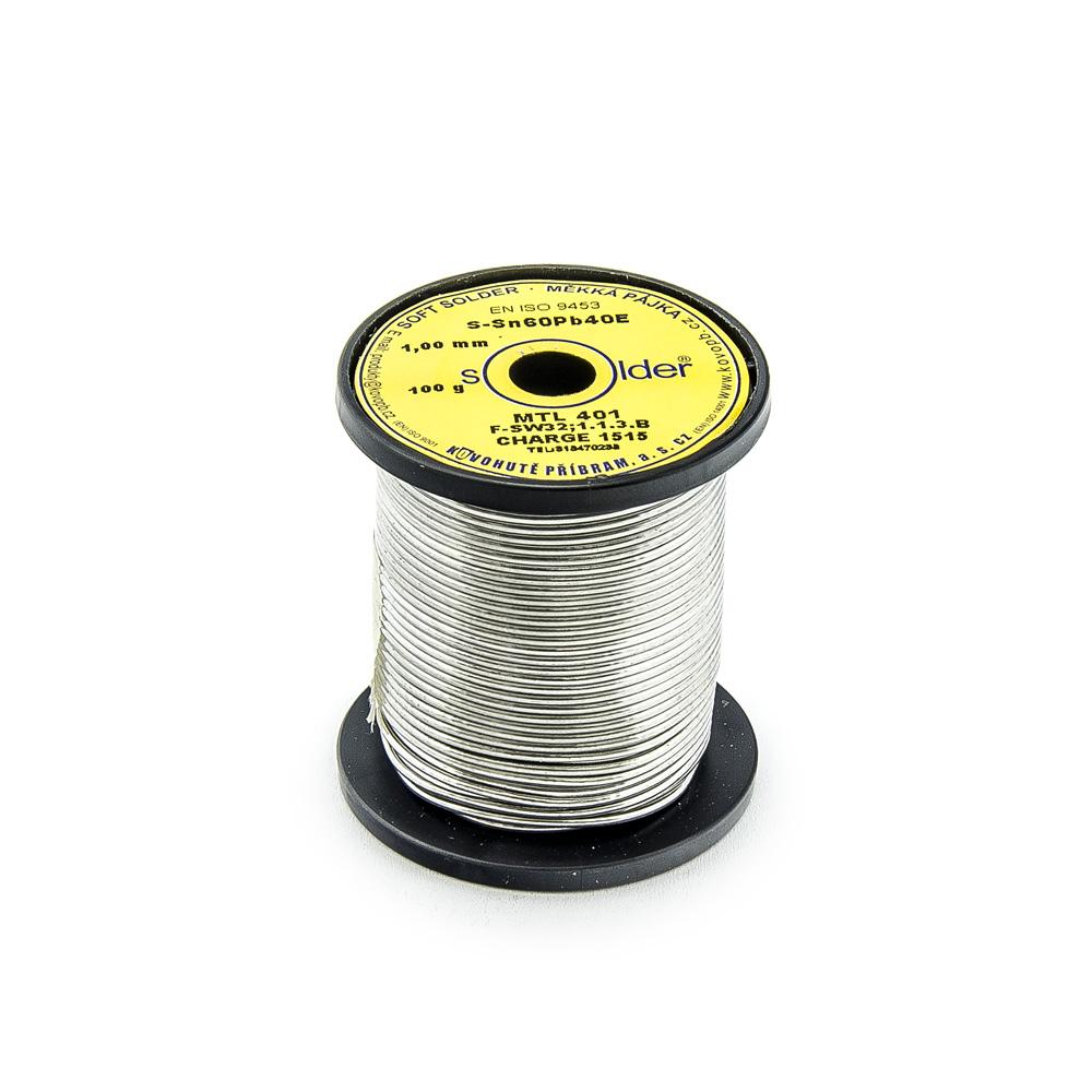 Trubičkový cín S-Sn60Pb40E MTL 401 1mm 100g