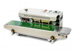 Průběžná (kontinuální) svářečka sáčků a fólií s tiskem a dopravníkem FR-900