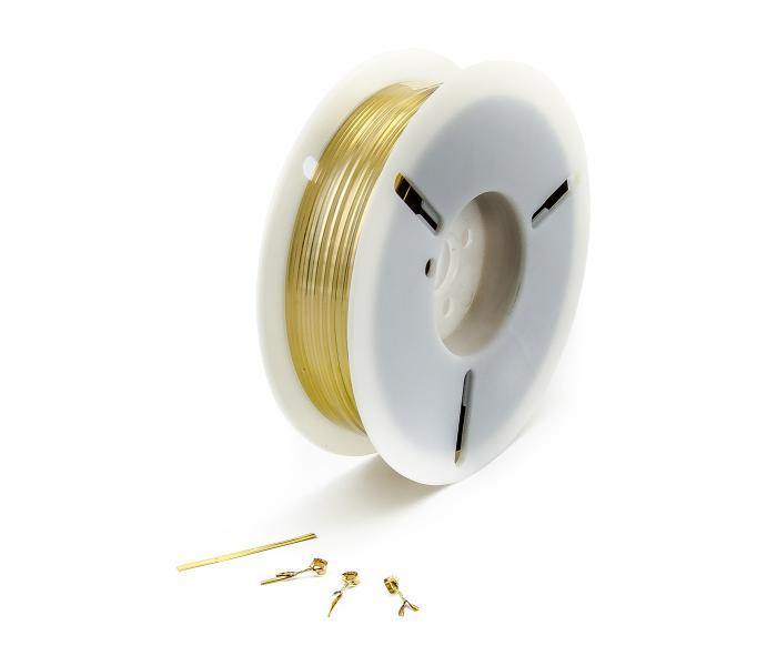 Svazovací drát twistband pro vázání pytlů, sáčků a drátů - zlatý, cívka 1000m