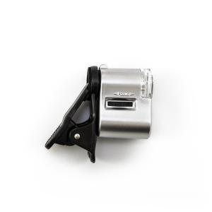 Mikroskop pro mobilní telefony - klip s LED a UV přísvitem 60x