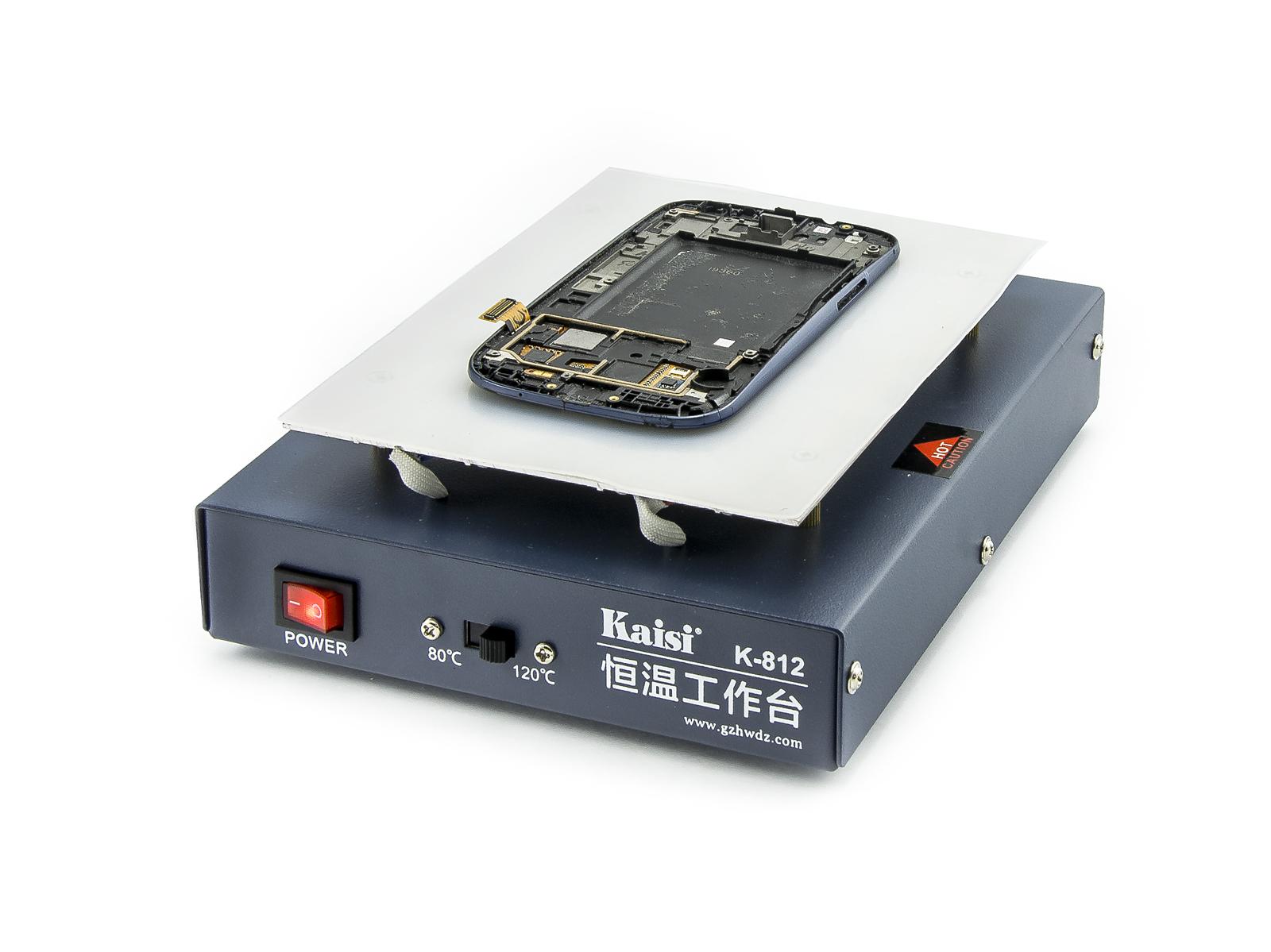 Předehřev pro výměnu prasklých skel LCD displejů Kaisi K-812