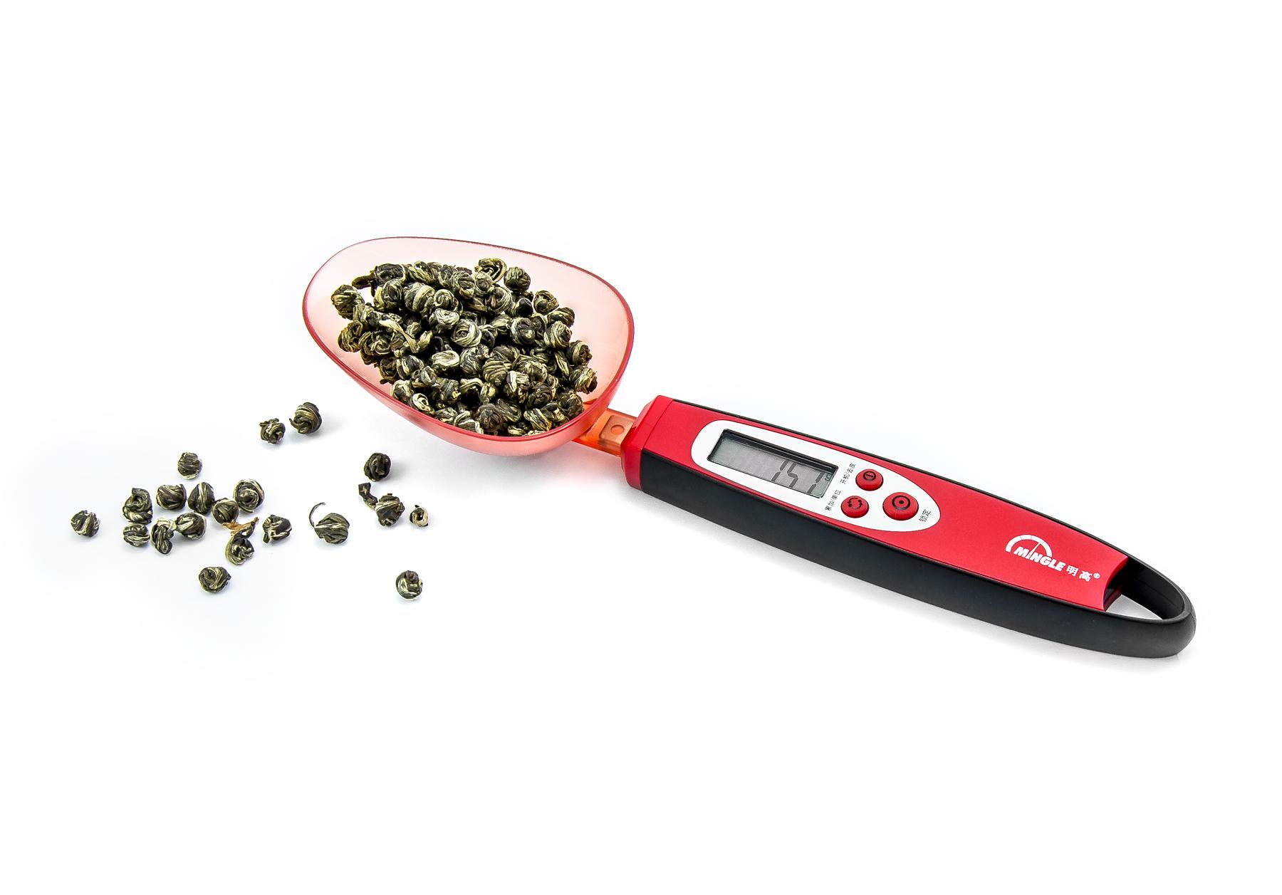 Digitální lžičková váha ve tvaru lžíce s váživostí 300g s dílkem 0,1g