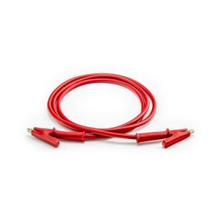 Propojovací kabel krokosvorka 100cm červený