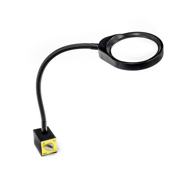 LED lampa s lupou PDOK PD-032B 8 dioptrií 3x zvětšení s magnetickou základnou