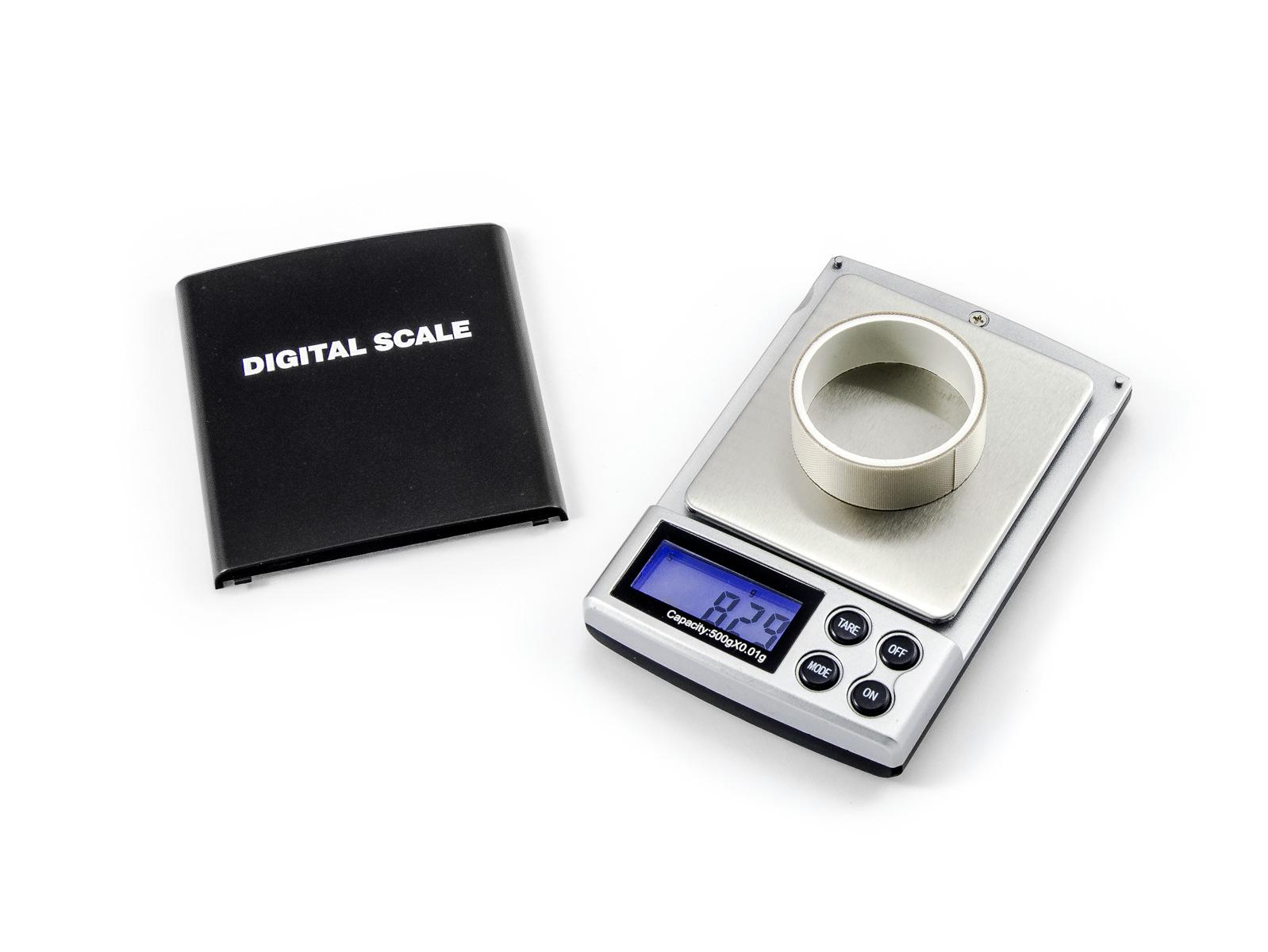 Digitální přenosná váha s váživostí 500g/0,01g dílek